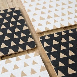 Love Milo Cork Placemat Triangle