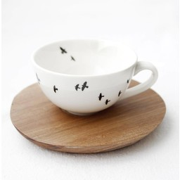 Love Milo Love Milo Bird Espresso cup and saucer
