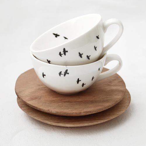 Love Milo Love Milo Bird Espresso cup and saucer