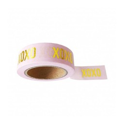Studio stationery Washi tape pink XOXO
