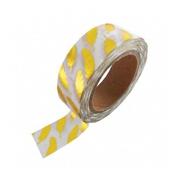 Studio stationery Washi tape Gold foil feather