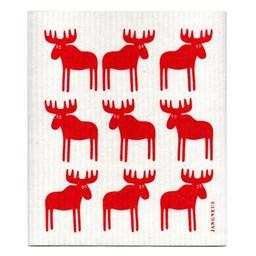 Jangneus Dishcloth red Moose