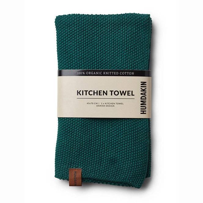 Humdakin gebreide keukendoek groen- blauw