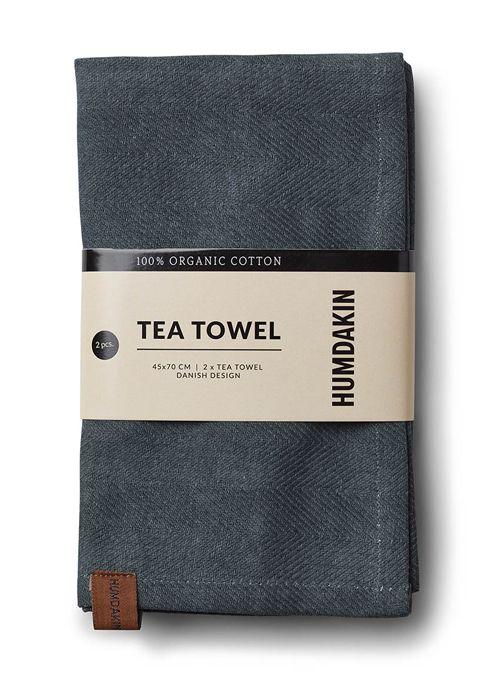 Humdakin Tea towel (2x) blue - green
