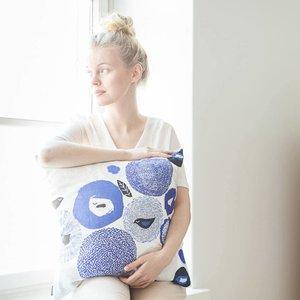 Kauniste Cushion cover Sunnuntai blue