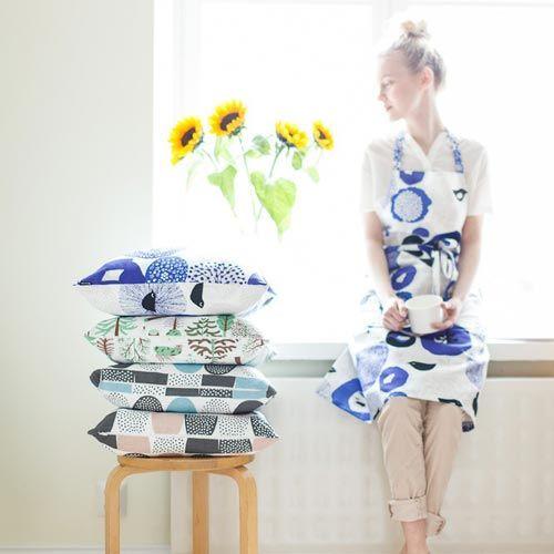 Kauniste Cushion cover Mökkilä blue
