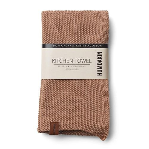Humdakin Humdakin knitted kitchen towels brown yellow shades