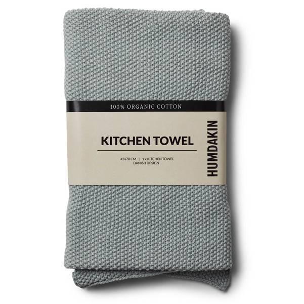 Humdakin gebreide keukendoek grijs - zwart
