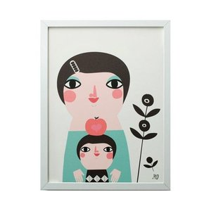 Going  Danish A3 Print Mother & child