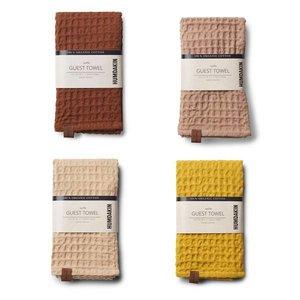 Humdakin Waffle towel Yellow Brown