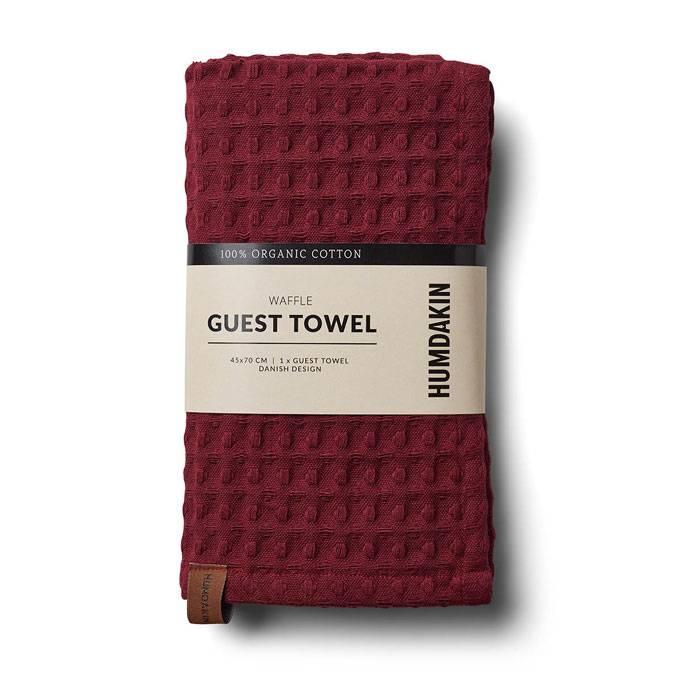 Humdakin Waffle towel Pink Red
