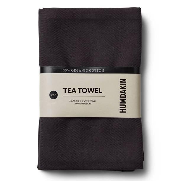 Humdakin Tea towel (2x) - Black - Grey
