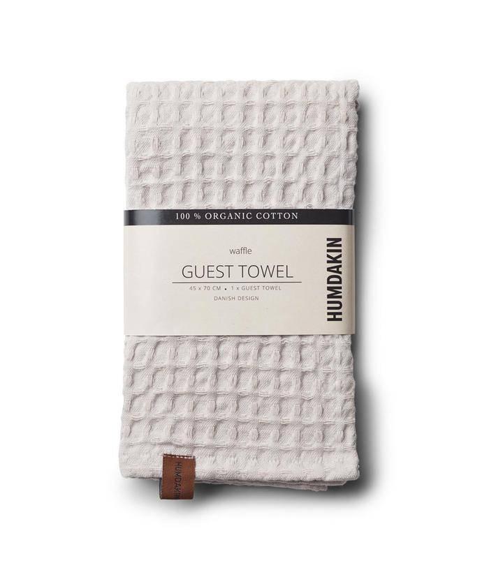 Humdakin Waffle towel Grey - Black