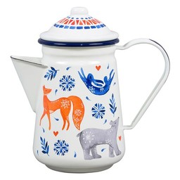 Wild & Wolf Enamel tea / coffee pot Sunrise Hare