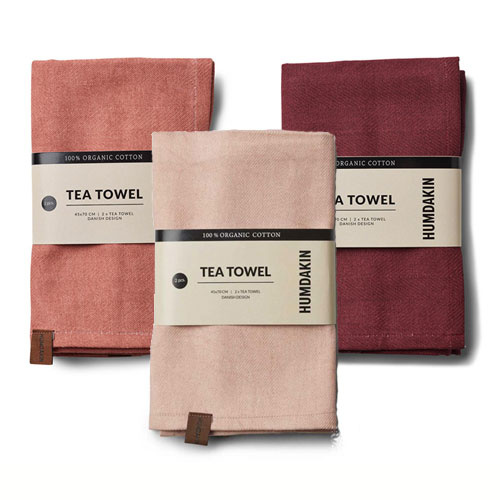 Humdakin Tea towel (2x) Pink Red