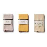 Tea towel (2x) Brown - Yellow