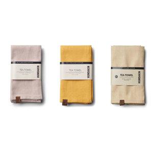 Humdakin Tea towel (2x) Brown - Yellow
