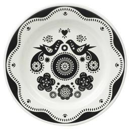 Nina Jarema Emaille bord Folklore zwart