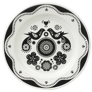 Emaille bord Folklore zwart