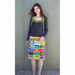 Clothkits DIY skirt C60 cassettebandjes