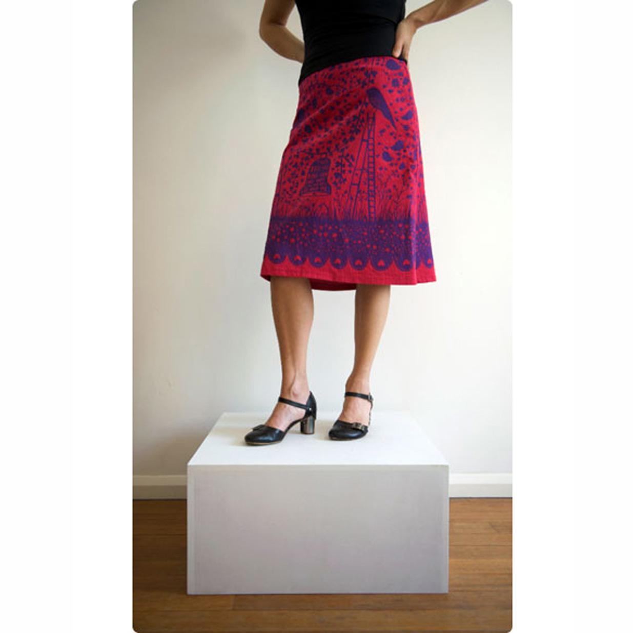 Clothkits DIY skirt Hold me Rob Ryan