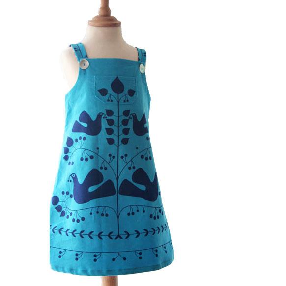 Clothkits DIY jurk Dove Pinny jurk 3-6 jaar