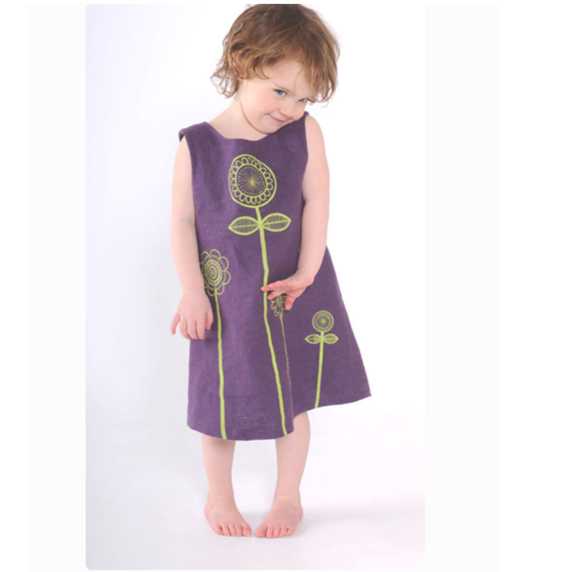 Clothkits DIY dress Peekaboo Sunflower 1-6 year