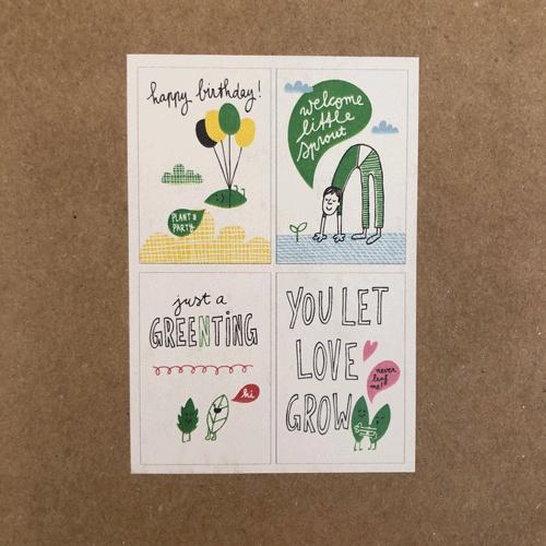 Niko Niko Set Plantbare bloem- en kruidenzaad kaart
