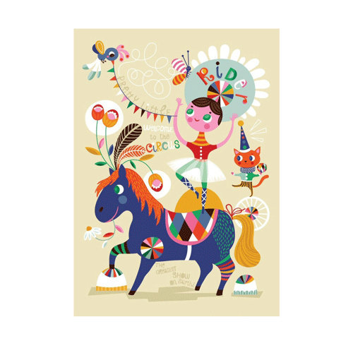 Petit Monkey Poster Little Rider