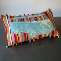 DIY Embroider retro Camper Rainbow