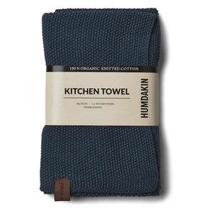 Humdakin Knitted towel Sea Blue