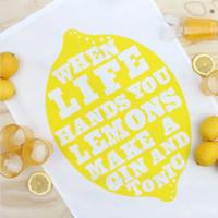 Tea towel Lemons