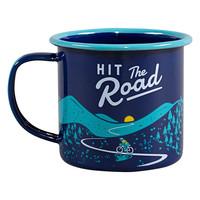 Enamel mug Hit the Road