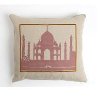 Geborduurd kussen Taj Mahal