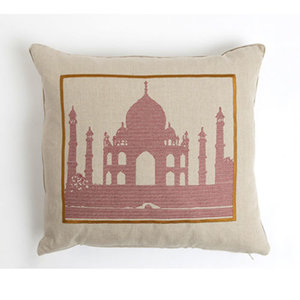 Snowden Flood Embroidered cushion Taj Mahal