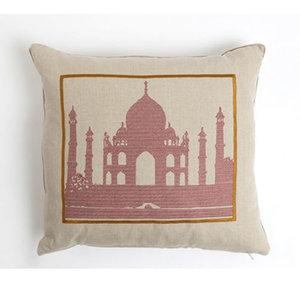 Snowden Flood Geborduurd kussen Taj Mahal
