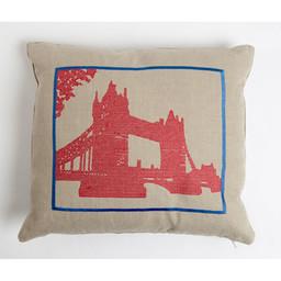Snowden Flood Embroidered cushion Tower Bridge
