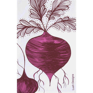 lush designs Tea towel Beetroot