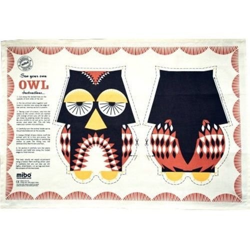 Mibo - Coq en Pate Owl Tea Towel