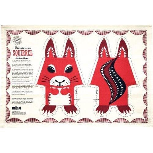 Mibo - Coq en Pate Squirrel Tea Towel