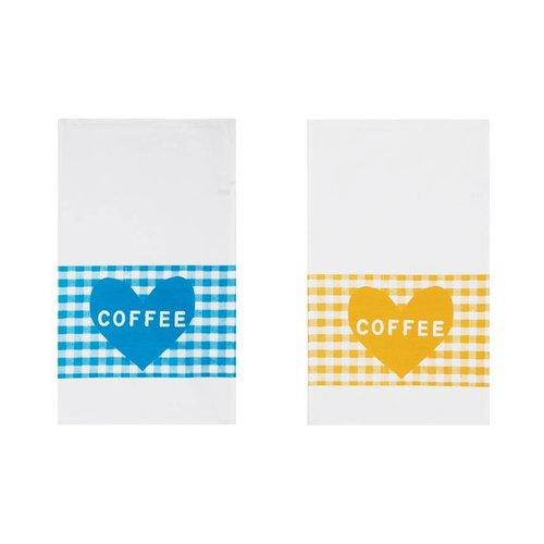 Theedoek Koffie hart
