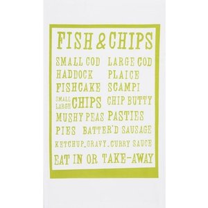 Fish Chips Tea Towel
