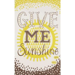Mary Fellows - Pintuck Pintuck Tea towel Give me sunshine