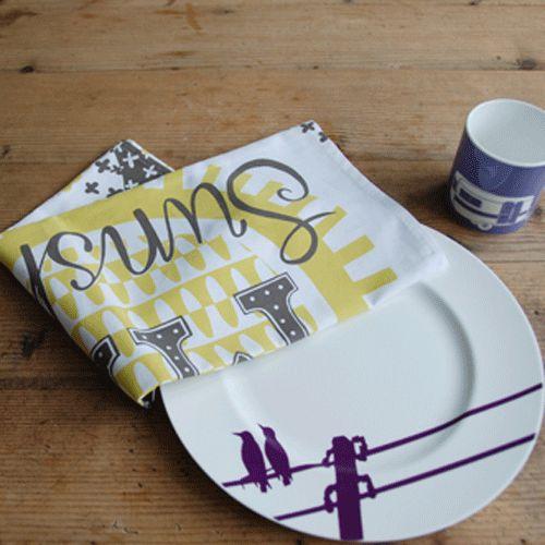 Mary Fellows - Pintuck Pintuck Tea towel Give me sunshine