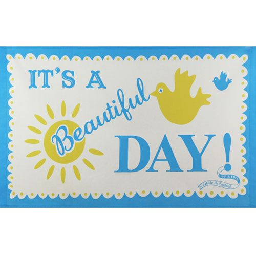 Mary Fellows - Pintuck Pintuck Tea towel It is a beautiful day