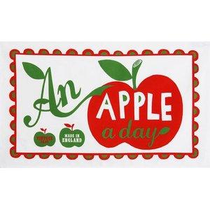 Mary Fellows - Pintuck Theedoek An apple a day