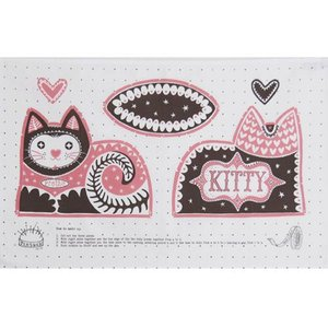 Mary Fellows - Pintuck Theedoek Pretty Cat