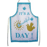 Pintuck Apron It's a beautiful day