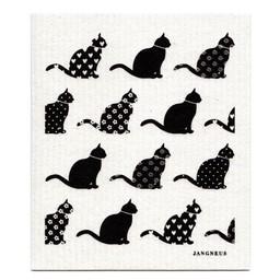 Jangneus Vaatdoek Zwarte katten