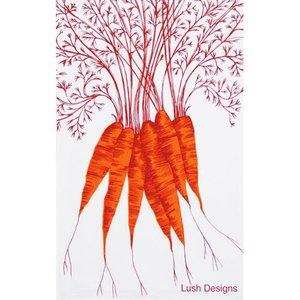 lush designs Theedoek Wortels